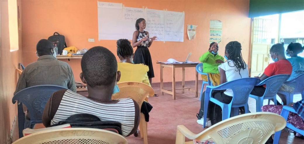 Youth with disabilities receive training on life skills, entrepreneurship and business mentorship workshops  in Kisumu, Laikipia, Siaya and Wajir Counties through the Access to Inclusive Quality Education and Transition (AQET)  project. #InclusiveEducation @VSO_Intl