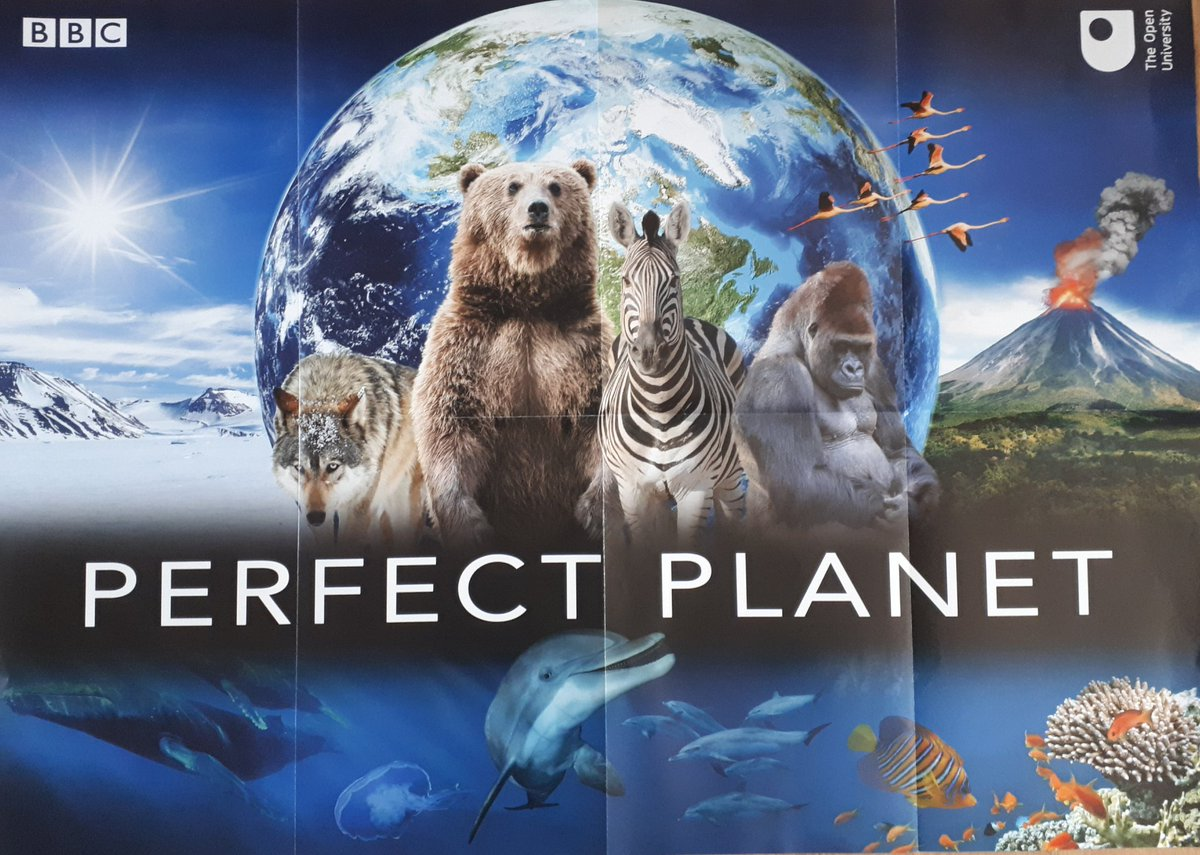 Just got my free 'Perfect Planet' poster. Absolutely stunning. #aperfectplanet #openuniversity #OpenLearn #Sirdavidattenborough #free  Here's the link to order one.