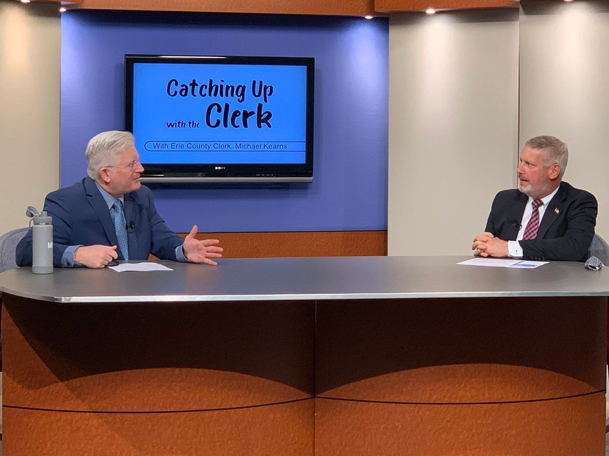 ICYMI: Watch #CatchingUpWithTheClerk where we discussed all vital areas of @ErieCountyClerk's Office: #realestate, current #foreclosure laws, pistol permits, #passports and the Auto Bureau. Catch us on Spectrum #Buffalo Channel 20 or view here: