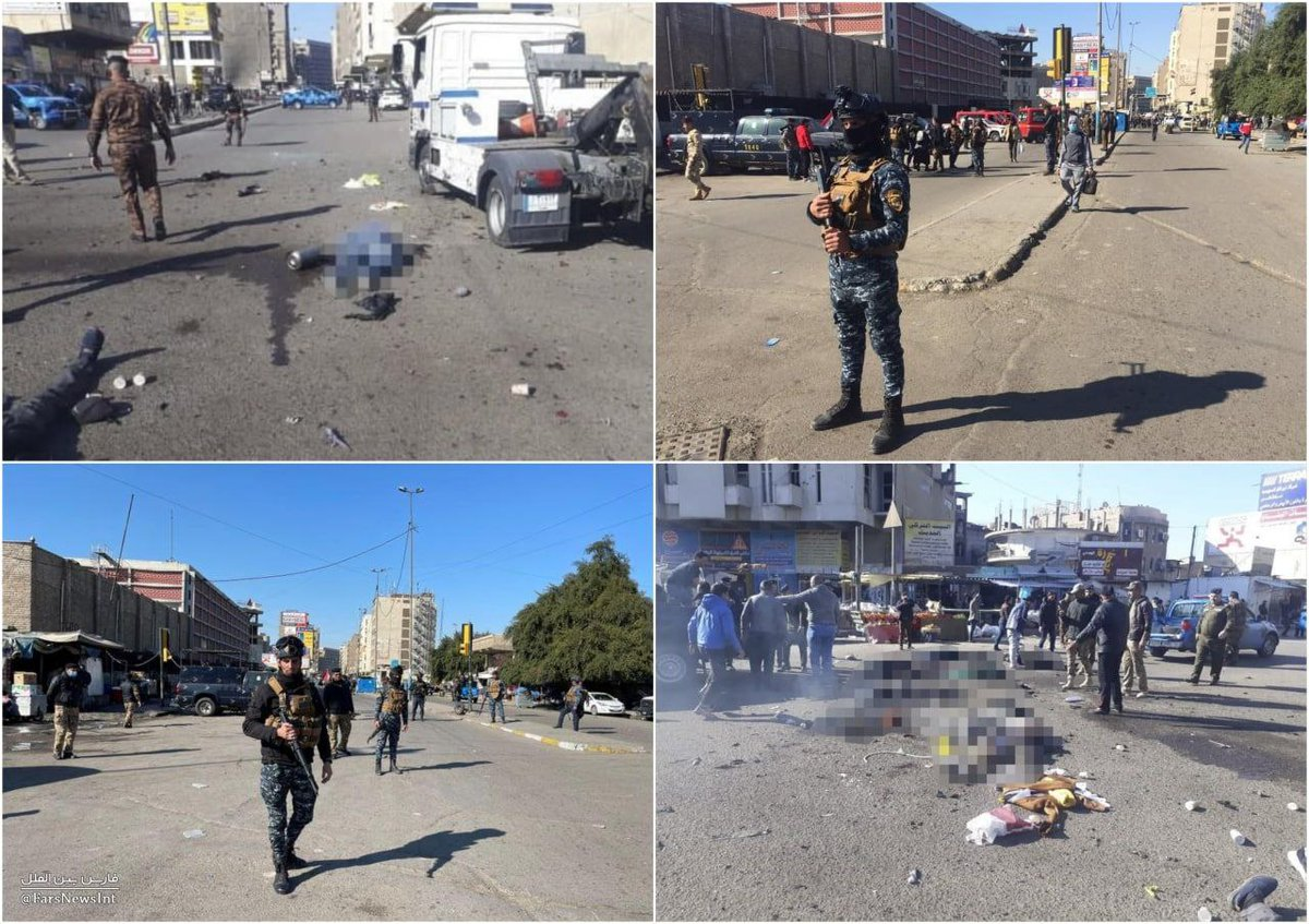Oggi in Iraq; due esplosioni tra la gente 😔💔😔 #ThursdayMotivation #من_قلبی_سلام_لبغداد #ThePromisedSaviour🙏
