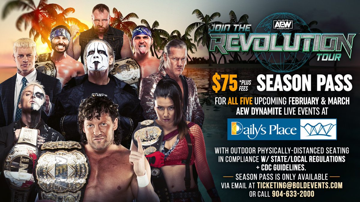 JOIN THE REVOLUTION TOUR $75 + fees for ALL FIVE upcoming Feb & March live events are available NOW by emailing ➡️ ticketing@boldeventsjax.com or calling 904-633-2000 w/ outdoor physically-distanced seating in compliance w/ state & local regulations & CDC guidelines