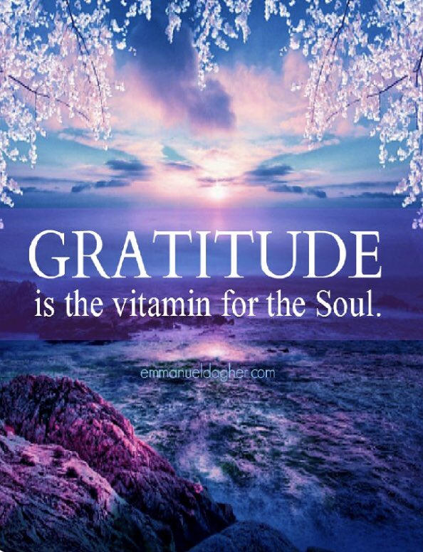 """G'morning Friends/Beautiful Souls!☀️🌷😊💖💙💜 """"Gratitude is the vitamin for the soul.""""😍🙌🏻🥰💞 Have an awesome Thursday! Take care! Be safe! Always be kind!🦋#Quote #QOTD #QuotesToLiveBy #PositiveVibes #Bekind #ThursdayThoughts #ThursdayMotivation #Gratitude #Wisdom"""