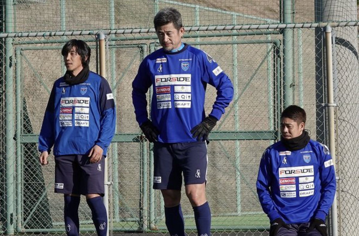 Over ruim een maand wordt hij 54 jaar. Maar Kazuyoshi #Miura is nog net zo energiek én ambitieus als aan het begin van zijn loopbaan als #profvoetballer, in 1986. De Japanse 'old-timer' bereidt zich met zijn J-Leagueclub #YokohamaFC voor op het nieuwe seizoen. (Foto @weeklysd) https://t.co/nMXrUxvU5G