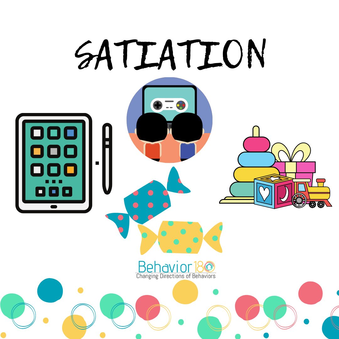 #Satiation occurs when an individual has come into contact with a particular reinforcer to a degree which makes the reinforcer temporarily lose its effectiveness. #ABA #BCBA #BCaBA #rbt #appliedbehavioranalysis #tbt #thankfulthursday #thoughtfulthursday #thursdaythoughts