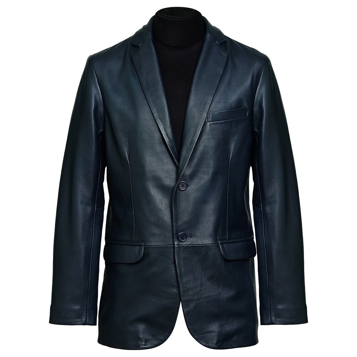 Lambskin Blazer Coat  Long Natural Leather in this one is excellent for wintery times! Color: Navy Size: XS, S, M, L, XL, 2XL, 3XL, 4XL, 5XL Shop Now:  Follow @clasicuwears  #clasicuwear #jacket #menjacket  #leatherjacket #leatherjacketformen #style
