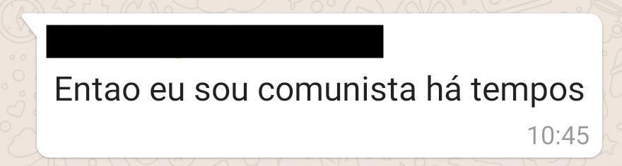 Fui explicar para um amigo, um recém ex bolsominion, sobre o que é comunismo para não sair por aí falando besteira.  A resposta: https://t.co/06cf9KvSpx