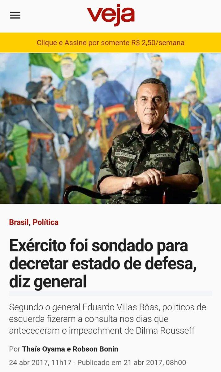 Dilma até queria decretar estado de Defesa, mas para a esquerda, naquela situação, era defesa da democracia né?