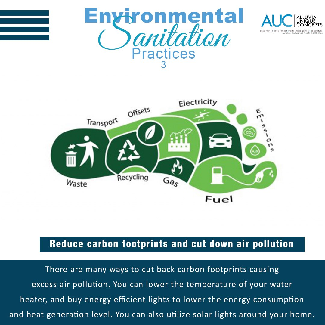 Environmental Sanitation Practice 3; Reducing #carbon footprints and cutting down air pollution.  #thursdaymorning  #ThursdayThoughts