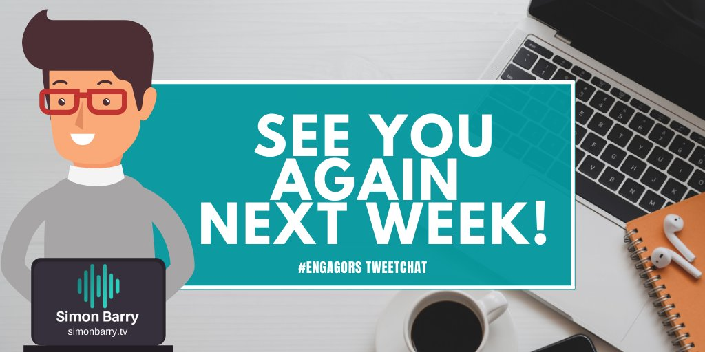 The #EngagORS #tweetchat takes place every Thursday 1pm UK time - join us next week!