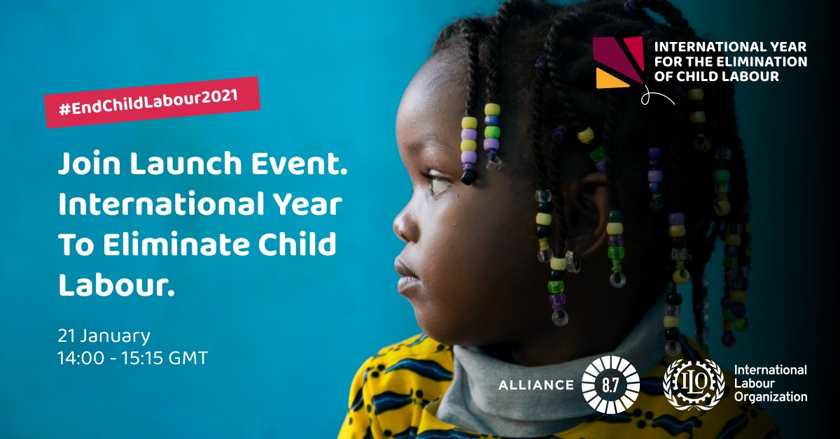 🗣️LIVE NOW!    Be part of the conversation at the launch event of the 1st @UN International Year for the Elimination of Child Labour.   Join us here:    More info:   #EndChildLabour2021