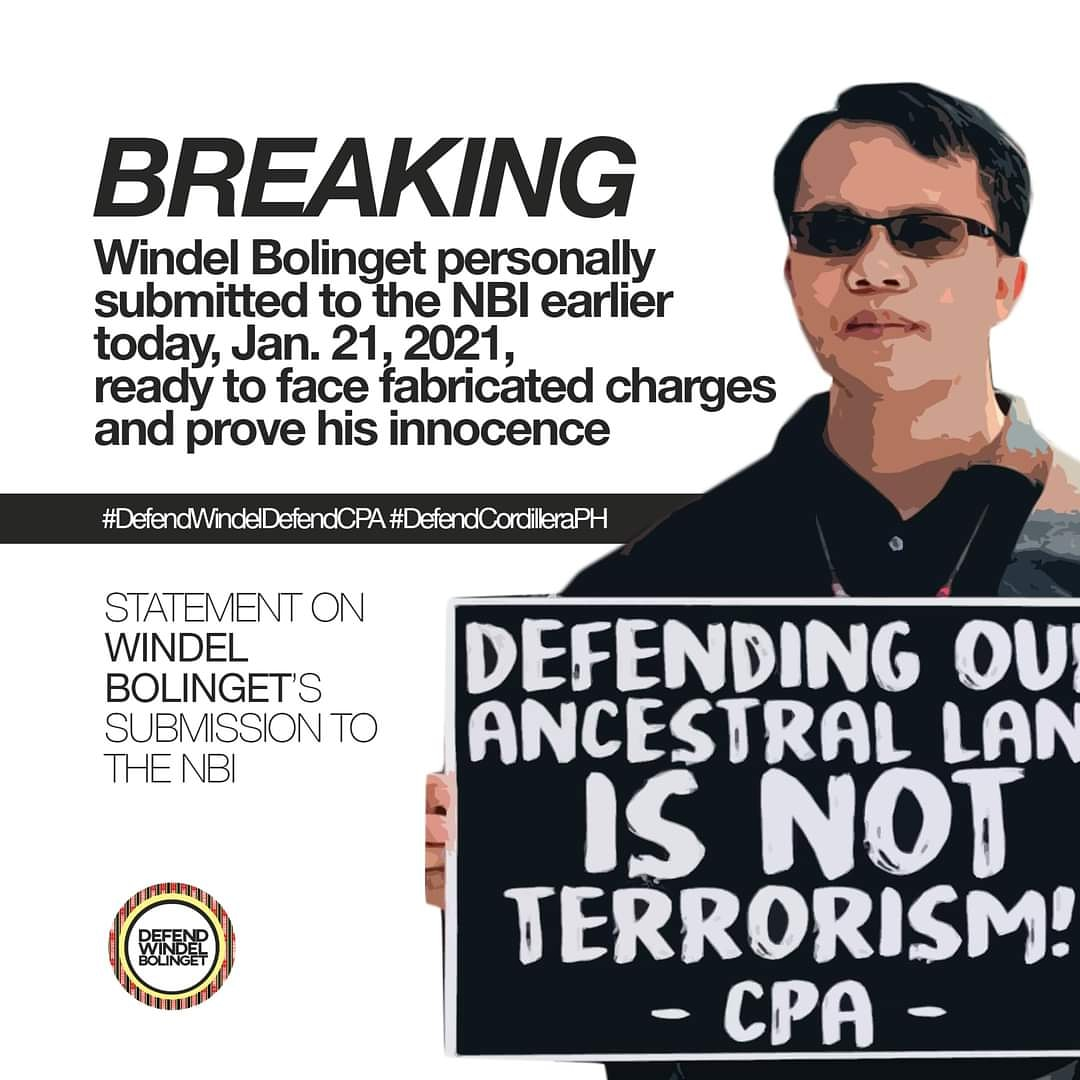 Let us demand justice for everyone else facing trumped-up charges! Stop the attacks on Indigenous peoples and activists! #DefendWindelDefendCPA #DropTheCharges #DefendCordilleraPh
