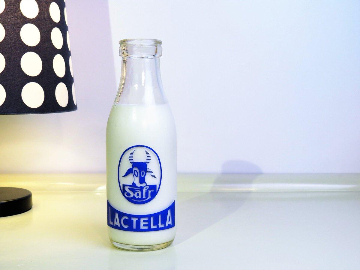 Vintage French Milk Bottle, Clear Glass Milk Bottle, Old Milk Glass Bottle, Advertising Lactella, Made in France, 60s  #covid-19 #CYBERSALE #Vintage #Wedding #BlackFriday #Retro #FREESHIPPING #MyNewTag #Christmas #DrinkAndBarware