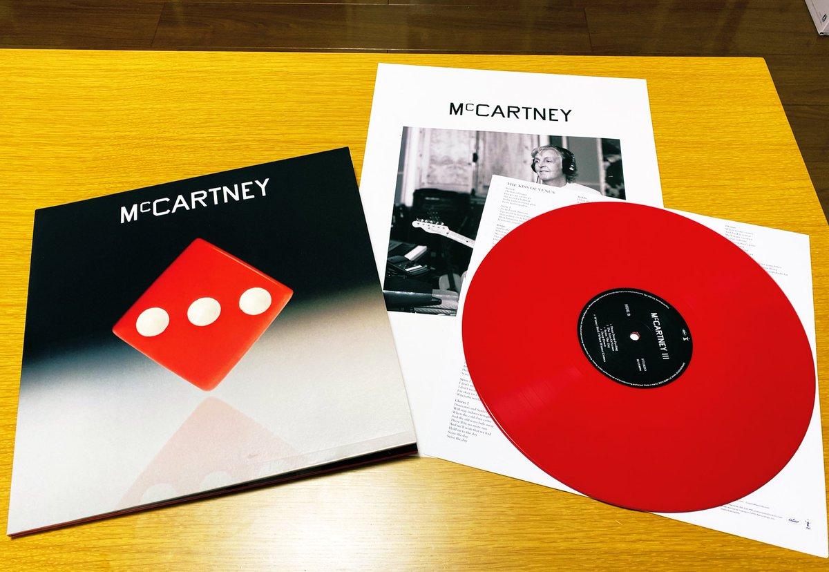#McCartneyIII red vinyl arrived!  #PaulMcCartney  @PaulMcCartney