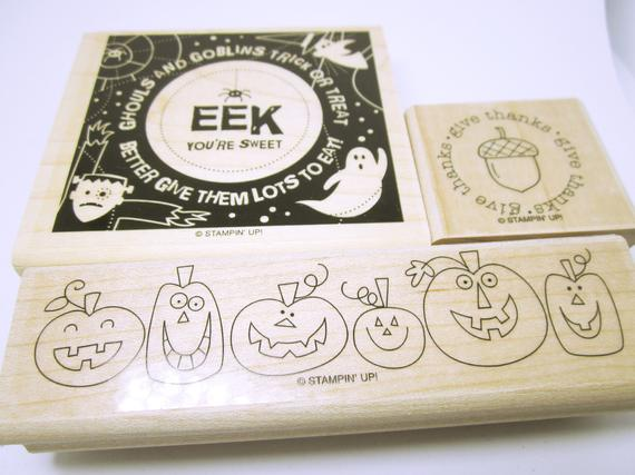 Thanksgiving  Halloween Rubber #Stamps Pumpkin Stamp Card Making Or #Scrapbooking Fun Stamps For Crafting Or Card Making Unused RUBBER STAMPS #cardmaking #supplies #christmas #rubberstamps