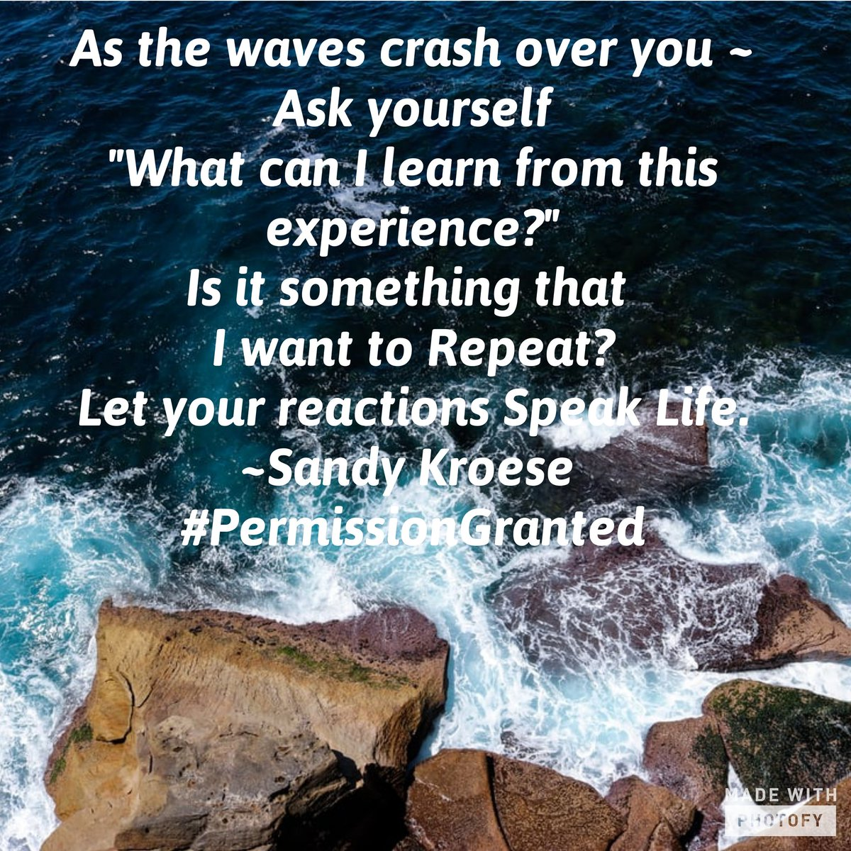 Storms in life come. We choose our reactions.  What can we see that we choose to repeat or walk away from?  #life #positivemindset #kindness #SpeakLife #ReflectionInTheMirror #PermissionGranted #thursdaymorning