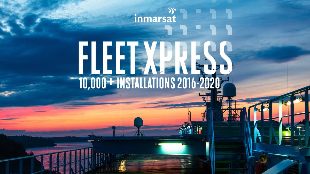 Congratulations to @InmarsatGlobal on the significant 10,000 vessel Fleet Xpress activation milestone. Today we share with you our latest Fleet Xpress installation, more to come! #nautical_news_es #nautical_news_en