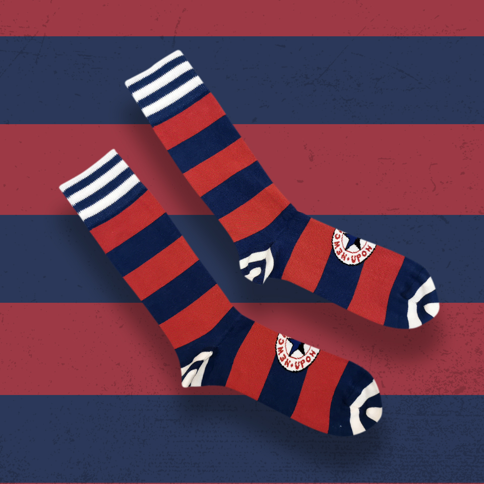 In an attempt to cheer up #NUFC fans tghese socks will now be available TOMORROW at 7PM 📧 Subscribe to email newsletters at https://t.co/YLluvjvpec for FIRST DIBS.