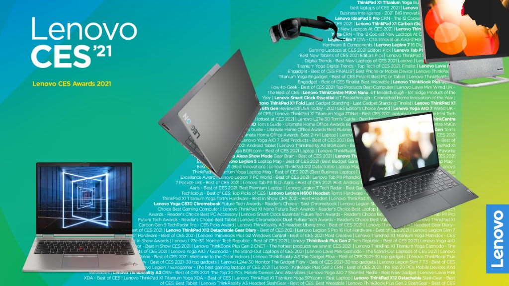 We revealed new technology, connected virtually with people around the world, and came away from #CES2021 with 80+ awards!   To all our product teams, engineers & fans — here's to you!   📺:  | #LenovoCES