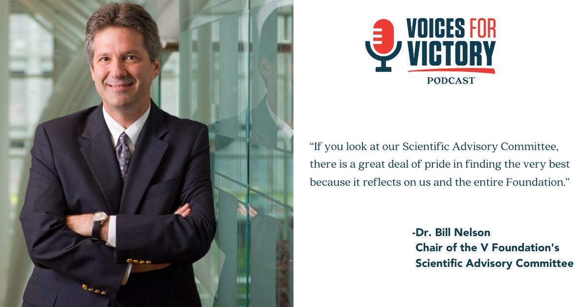 Dr. Bill Nelson, Director of @KimmelCancerCtr & chair of our Scientific Advisory Committee, chats about what he thinks the future of cancer research looks like & how cancer research played a role in the COVID-19 vaccine. Listen:  #VoicesforVictory