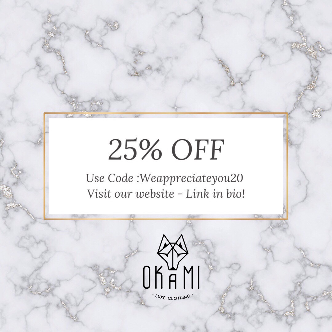 Goddess! Receive 25% off when you use coupon code #weappreciateyou20 Shop   ⠀ #Okamiluxeclothing #OLCGoddess⠀ #Goddess #follow #f4f #toptags #igdaily #followme #networking #networkingevent #socialnetworking  #Branding #shopping #shop #shoppingbags