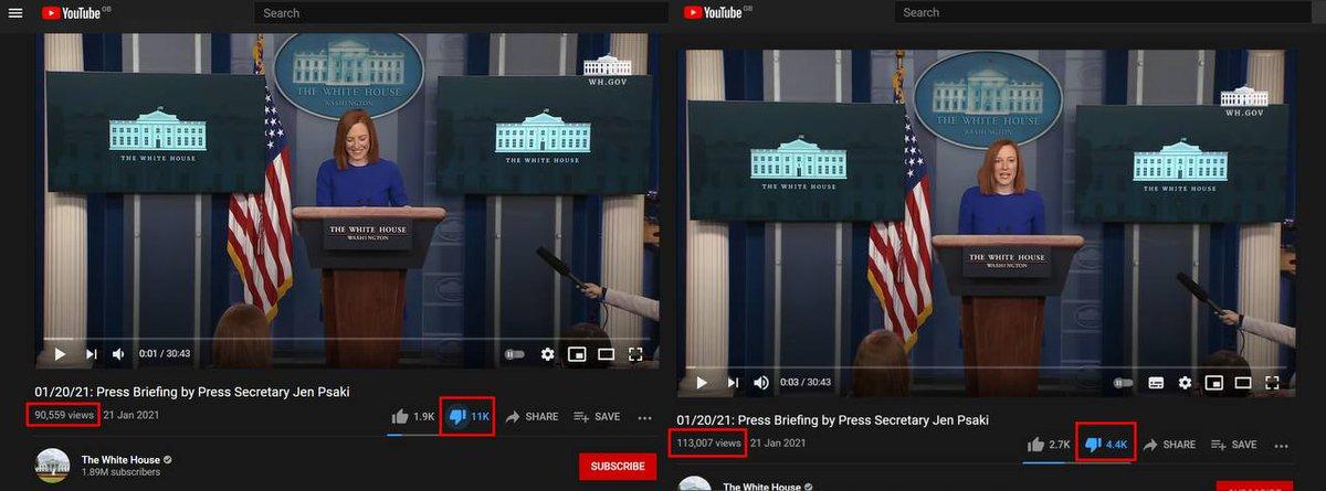 #YouTube helps #JoeBiden cheating his likes and dislikes. Removing dislikes from his videos. #some #TrendingNow #BigTech #nrk #tv2 #sistenytt #2valg #Election2020 #nrkvalg #biden #stopthesteal #bidenfraud