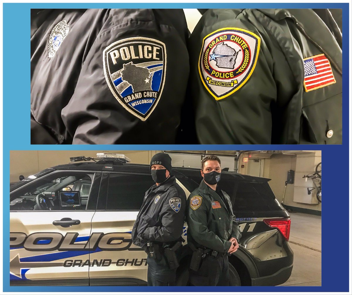Happy Thursday, Tweeps! Officer Waas stumbled across this old school jacket this morning. We did a side-by-side with Officer Enneper sporting one of our newer jackets. Anyone remember seeing our officers wear these or remember those patches?   #thursdaymorning  #ThrowbackThursday