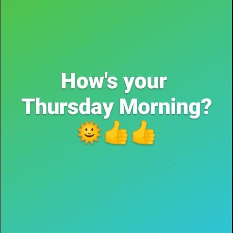 How's your Thursday Morning (first one in the wonderful Biden-era)?  🌞👍👍 #bigspence #spencerkarter #thursdaymorning #thursdayvibes