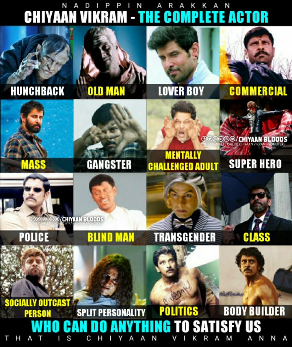 @Vicki_Master Don't compare chiyaan with any actor bro #ChiyaanVikram legend of Indian Cinema incomparable actor!!! #cobra