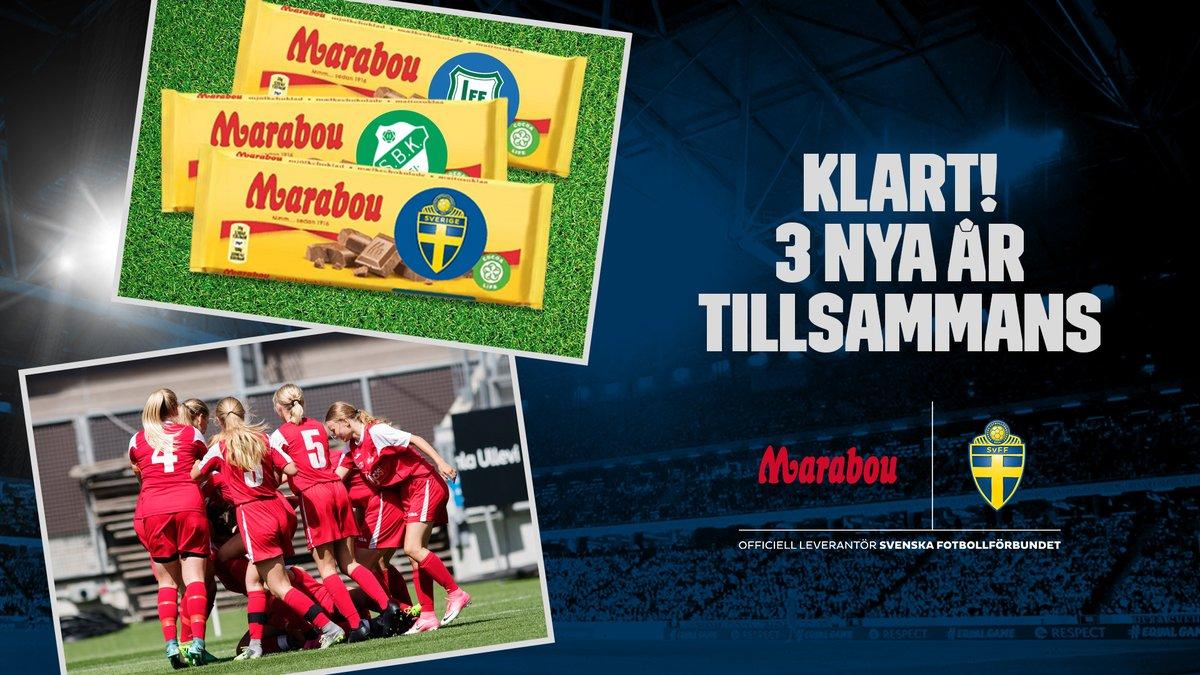 Goda nyheter! Marabous avtal med SvFF förlängs 2021-2023. ❤️🍫 Samarbetet bygger på Marabous värdeord glädje och gemenskap och kommer fortsatt att fokusera på att ge tillbaka till svensk fotbolls breddverksamhet. ⚽👏 #tillsammansförfotbollen #Marabou #Mondelez