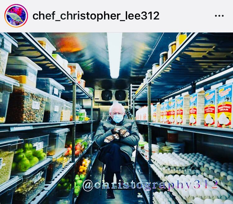 Leave it to a chef to come up with one of our very favorite Bernie Sanders memes....  #berniesanders #chef #restaurant #walkin