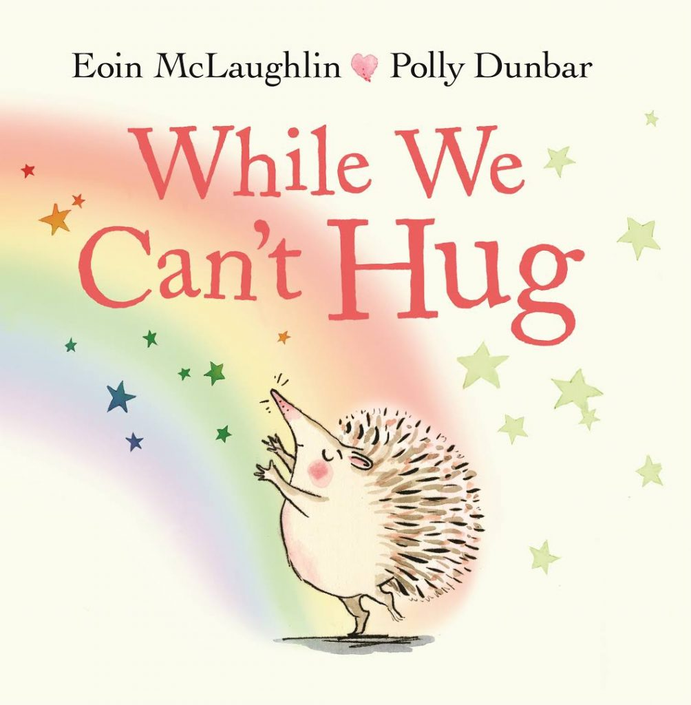 """""""Even though they cannot touch, these friends still know that they are loved."""" While We Can't Hug by @eoinmclaughlin & @PollyDunbar is the perfect picturebook to share for #NationalHuggingDay 2021:"""