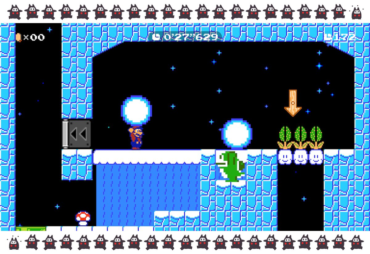 "A new #SuperMarioMaker2 Ninji Speedrun course, ""SMB2 Mario: Can You Dig It?"", is out now! Ride on enemies or snowballs that you'd normally just stomp. Let your foes carry you to victory, or pick 'em up and throw 'em! If you get stuck, try digging up a Cloud Block!"