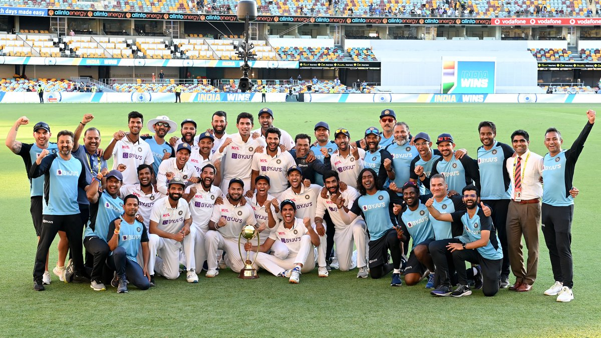 #TeamIndia created history Down Under with one of the greatest series wins ever, but who were the backstage men behind it? Watch @Parthiv9 answer on #CricbuzzChatter  #AUSvIND #AjinkyaRahane #Cricket