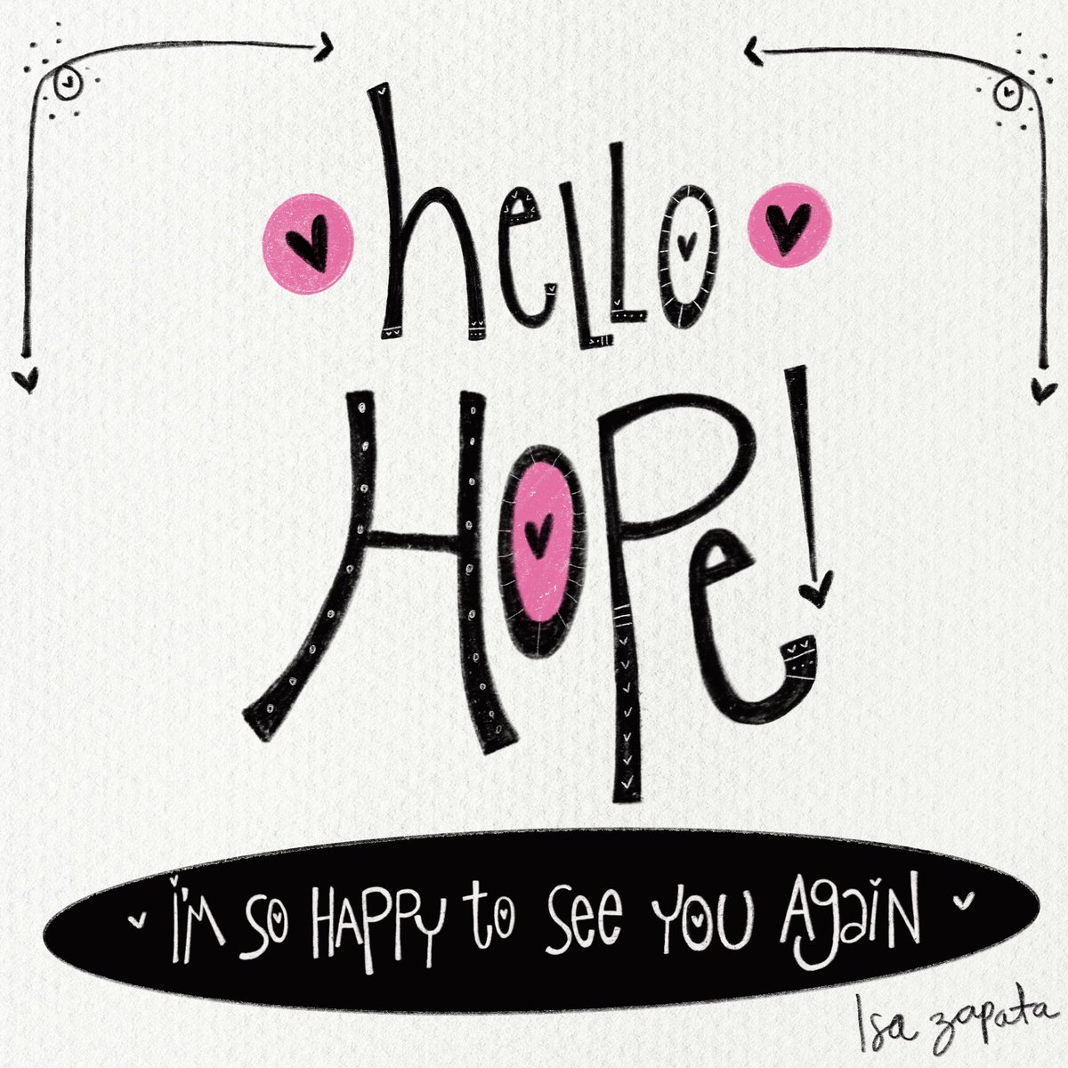 Hello Hope 💕 #illustration #joytrain