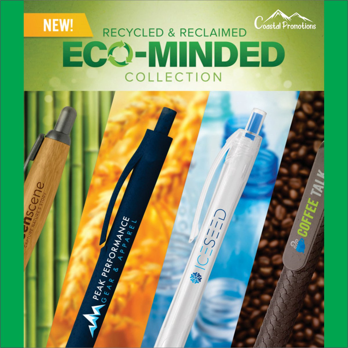 Does your #brand have an #ecofriendly #voice? #CoastalPromo can help your #business with #promotionalproducts that align your #values with our #planet. . . #pens #writing #promoproducts #custompen #custompens #ecoproducts #stationery #thinklocal