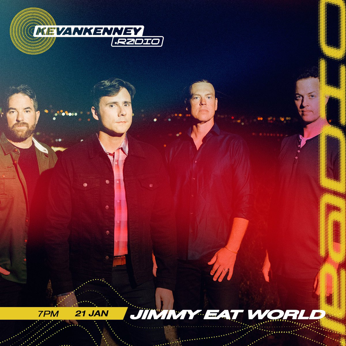 .@jimmyeatworld is on the show tn to talk #PhoenixSessions, Bleed American's 20th & Eve 6 twitter   ⏯
