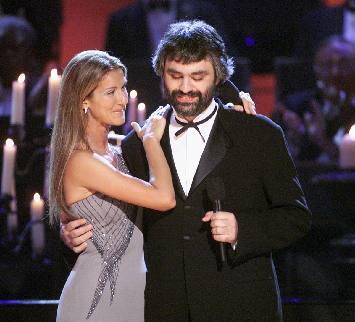 GRAMMY winners @celinedion and @AndreaBocelli at the 41st #GRAMMYs held in #LosAngeles on February 24, 1999. 🎵✨ #GRAMMYVault