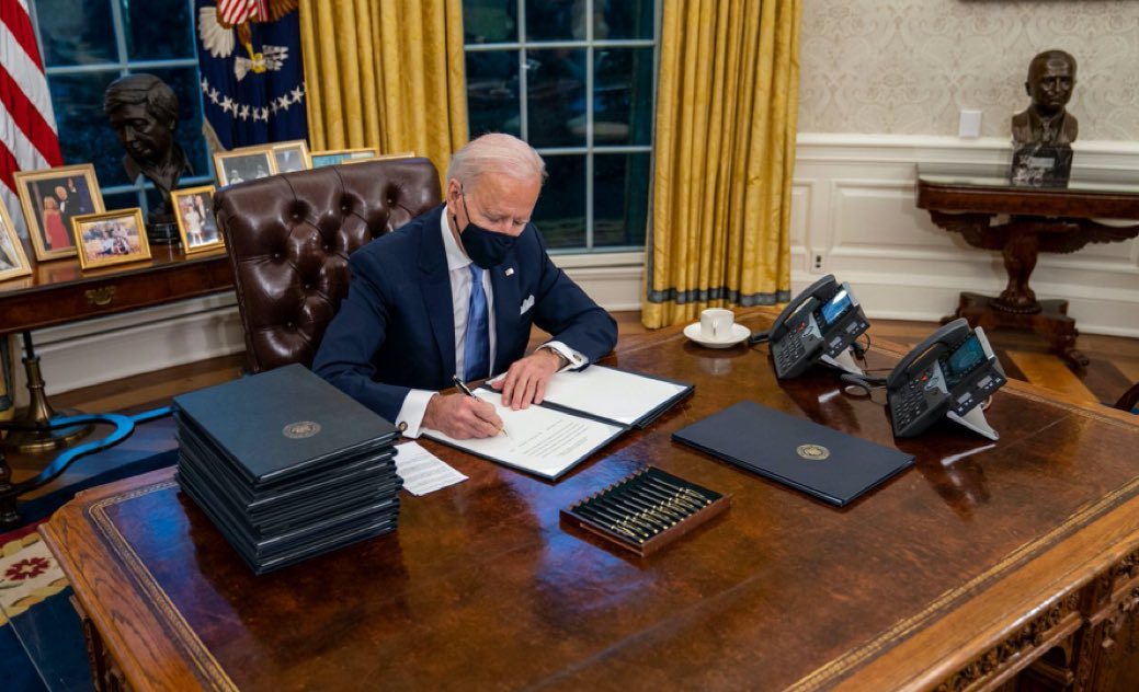 Biden signing executive order to get more God dang pens