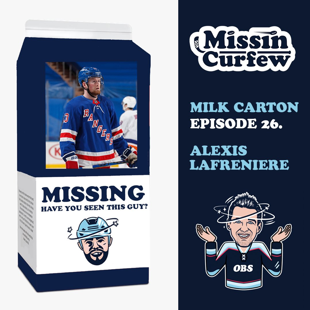 The return of the @MissinCurfew Milk Carton is back!! And the fellas came out firing to kick off the 2021 season 🔥🔥 Who's on your milk carton after the first week??   @ShaneOBrien55  Alexis Lafreniere   @Jimmy10Hayes  Boston Bruins 5v5 Offence   @ScottieUpshall  Edmonton Oilers