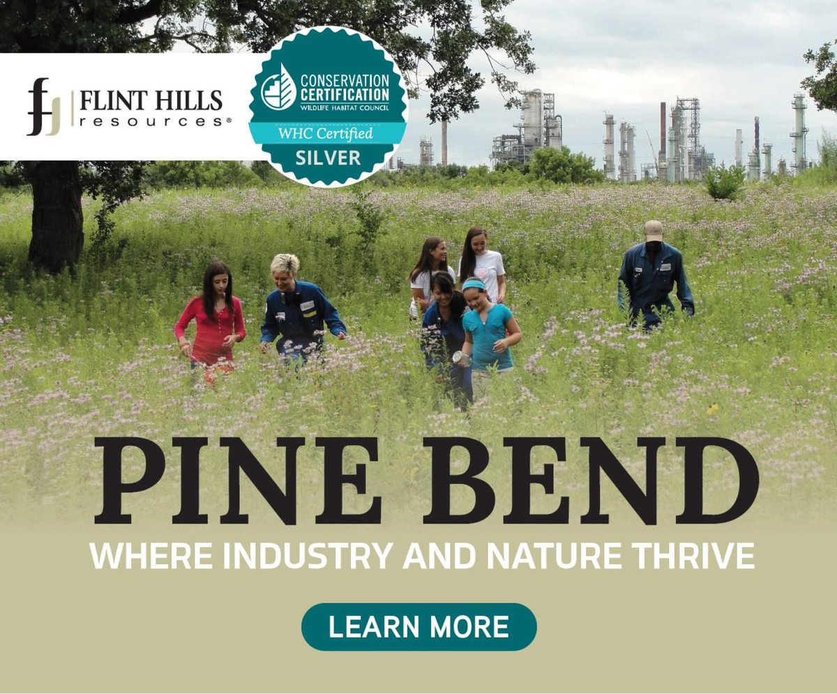 Flint Hills Resources' Pine Bend Refinery is proud to have achieved the Wildlife Habitat Council's Silver Conservation Certification for helping restore natural prairie and oak savannah at the Pine Bend Bluffs. #WhereIndustryandNatureThrive
