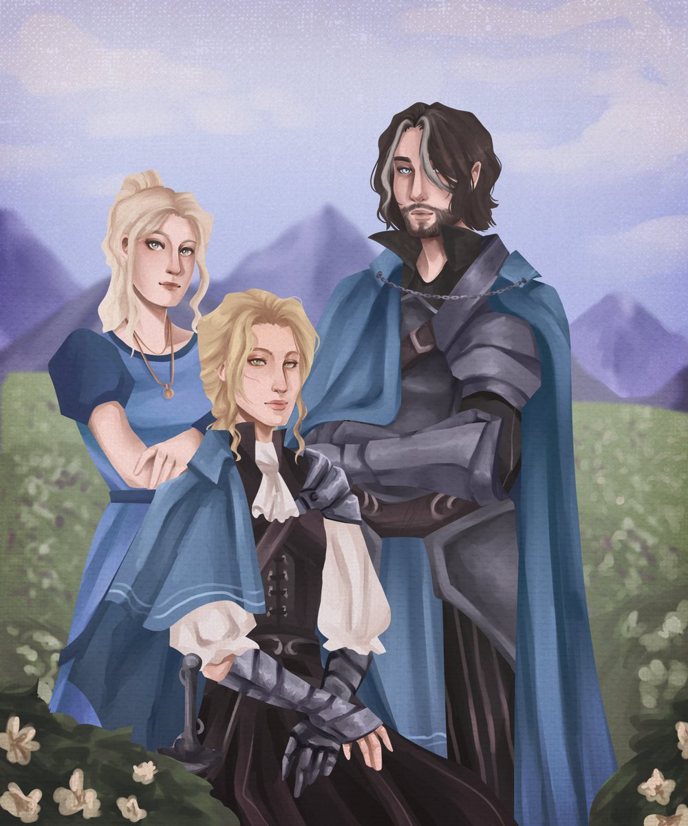 quick guide to making your players cry as a GM: paint their character a family portrait :)  #dnd5e #dndartists