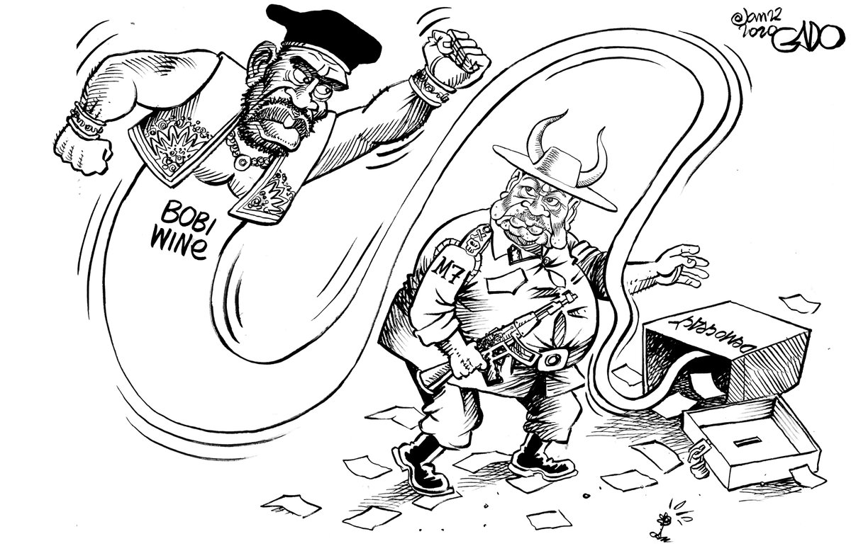 'The Bobi Wine Genie is out of the Ballot Box'  Brilliance from @iGaddo.