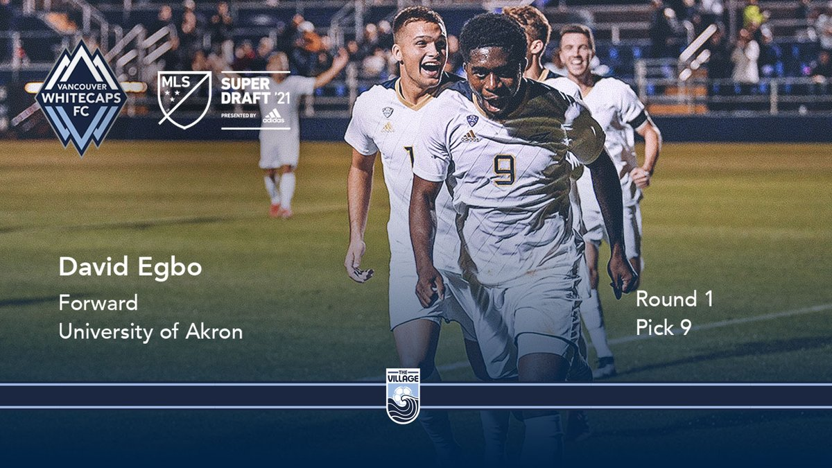 Welcome to the Village, David 🌊  With the 9th overall pick in the 2021 @MLS #SuperDraft by @Adidas, we're proud to select @ZipsMSoc's @DAEVE1010  #VWFC #ItTakesAVillage