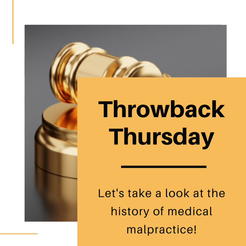 For #tbt, take a look at the history of Medical Malpractice:    #throwbackthursday #thursday #medicine #doctors #history #historyofmalpractice #learnsomethingnew #education #stayinformed #knowledgeispower #medicalmalpractice