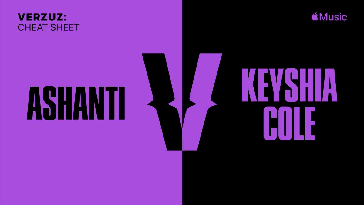Shazam any track by @ashanti or @KeyshiaCole to get the #Verzuz #CheatSheet playlist curated by @LowKeyUHTN 💪