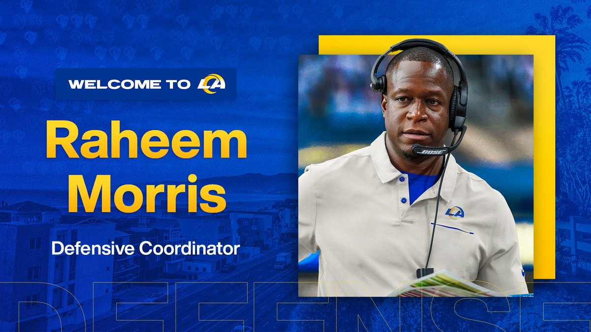 Welcome to Los Angeles!   We've agreed to terms with Raheem Morris to become our next DC »