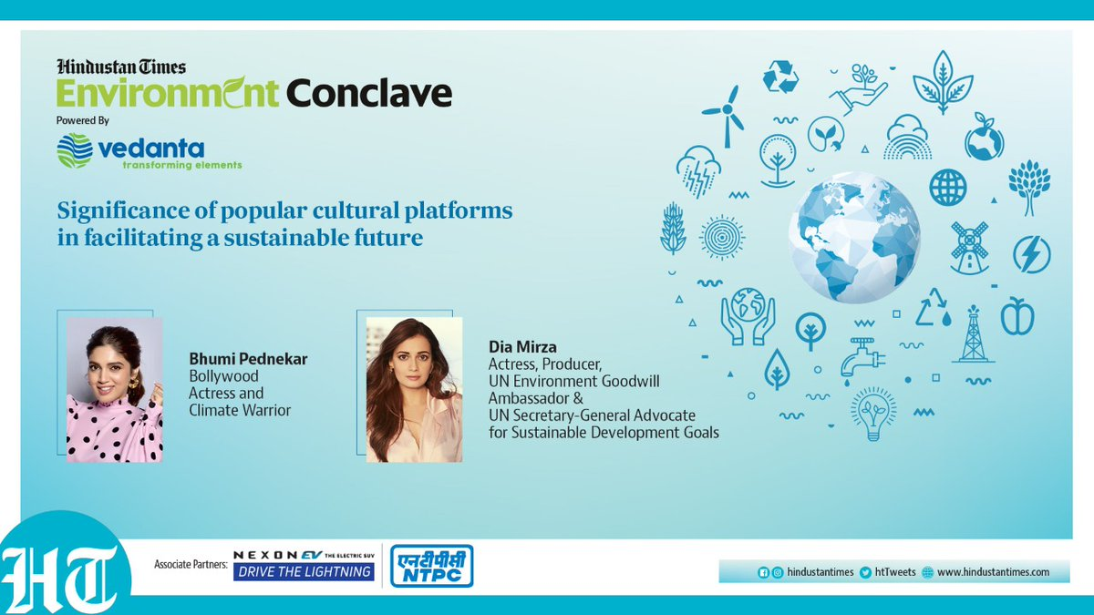 Will be moderating this session LIVE, tomorrow, Jan 22 at 5pm, at the #HTEnvironmentConclave, with the UN Environment Goodwill Ambassador @deespeak, and Climate Warrior @bhumipednekar.  Watch on Hindustan Times  Facebook:   YouTube: