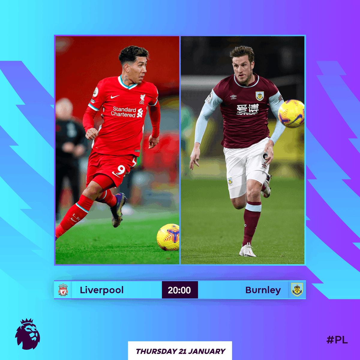 Liverpool 🆚 Burnley: 🔜  #LIVBUR