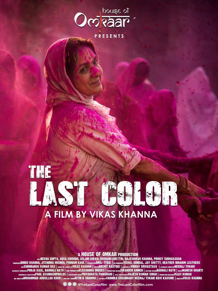 Power of word of mouth is UNPRECEDENTED!Since #TheLastColor came on @PrimeVideoIN, its running on ppl's emotions.Hv family, school friends hosting parties, old colleagues-across the world watchg together.A school friend just called&cried seeing #HouseofOmkar! #ThankYouIsTooSmall!