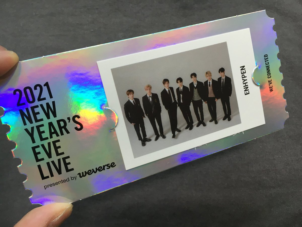 i made the right choice to purchase the #2021NYEL concert ticket earlier to get this beauty: the special ticket is so pretty! holo is really my thing! 😍 (photo from dajungwon)  @ENHYPEN_members @ENHYPEN